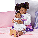 A Sister's Love Lifelike Child And Baby Doll Set