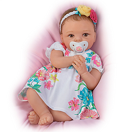 Cheryl Hill Pretty And Petite Presley Silicone Baby Doll