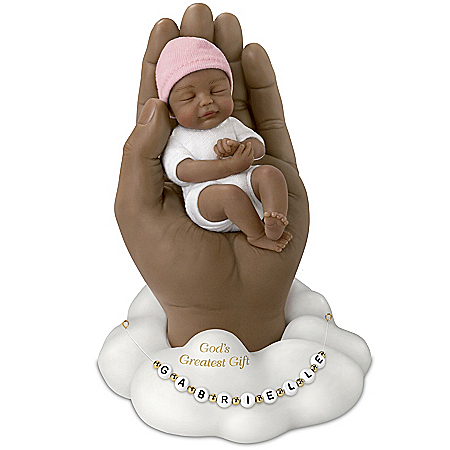 God's Greatest Gift Miniature Baby Doll With Name Beads