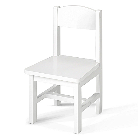 Sturdy Wood White Chair Doll Accessory