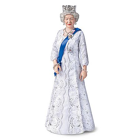 Queen Elizabeth II 95th Birthday Porcelain Portrait Doll