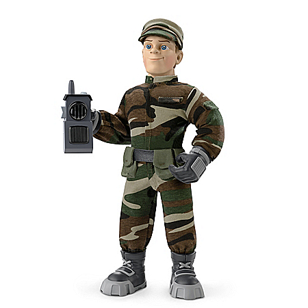 Everyday Heroes Military Max Poseable Plush Action Figure