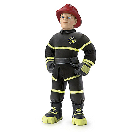 Everyday Heroes Fireman Finn Poseable Plush Action Figure