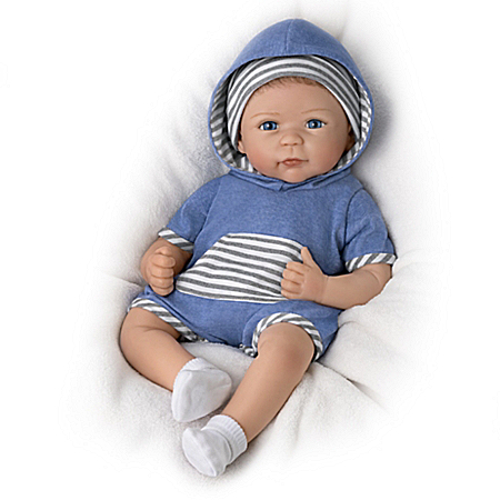 Linda Murray Caleb Silicone Baby Boy Doll