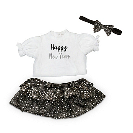 """New Year's Baby Doll Outfit Set For 17"""" To 19"""" Dolls"""