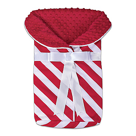 Minky Soft Candy Cane Bunting Baby Doll Accessory