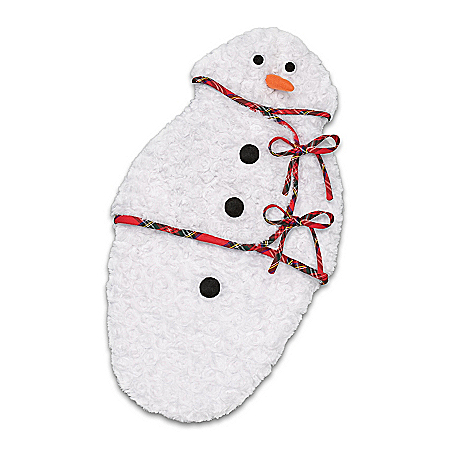 Snowman Minky Fabric Bunting Baby Doll Accessory