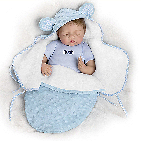 So Truly Real Baby Of Mine Blue Bear Personalized Vinyl Baby Doll