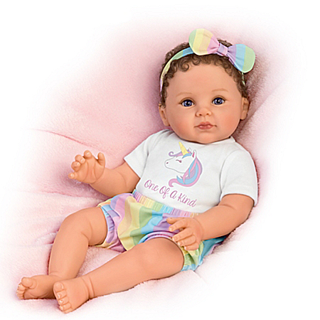 Ping Lau One Of A Kind Katherine Baby Doll With Unicorn T-Shirt