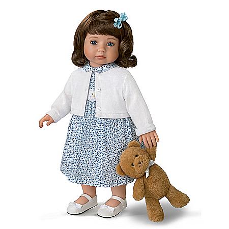 Mayra Garza Madison Vinyl Child Doll And Plush Teddy Bear Set