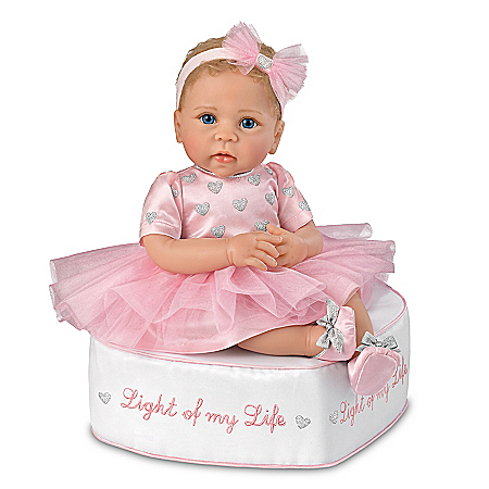 Linda Murray Light Of My Life Vinyl Baby Doll And Ottoman Set