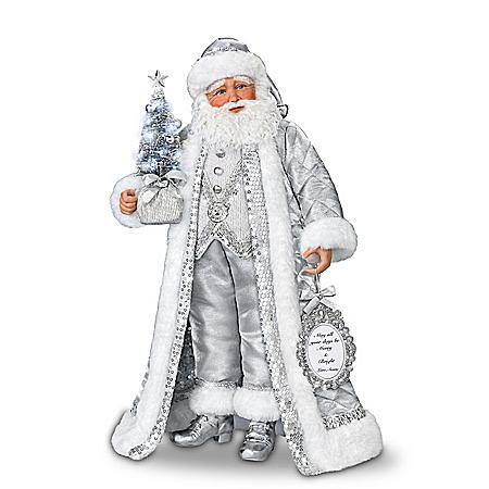 Karen Vander Logt Silver Bells Musical Santa Claus Doll