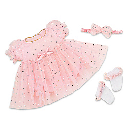 Celebration Dress 3-Piece Outfit For 17 – 19 Baby Dolls