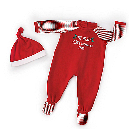 Personalized Christmas PJs Set For Baby Dolls 17 – 19 Long