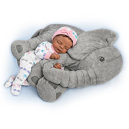 Violet Parker Nia Vinyl Baby Doll And Plush Elephant Set