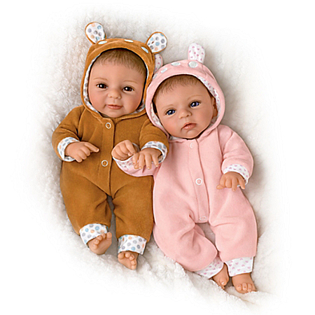 Sherry Rawn Oh Deer! The Twins Are Here! Baby Doll Set