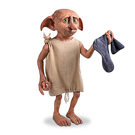 DOBBY THE HOUSE ELF Poseable Figure With Sock