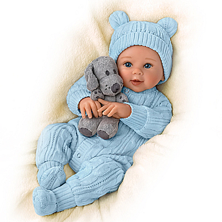 Sherry Rawn Aiden Baby Boy Doll With Plush Puppy