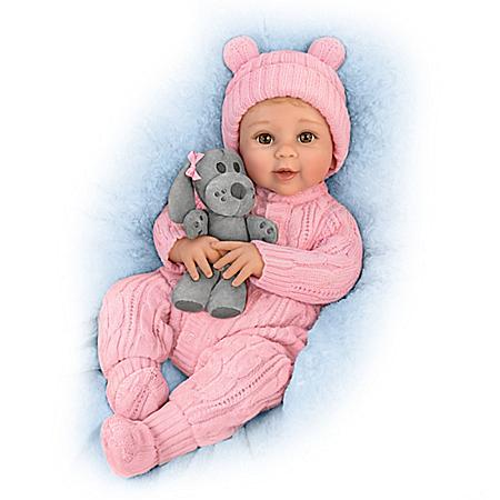 Sherry Rawn Arianna Baby Girl Doll With Plush Puppy