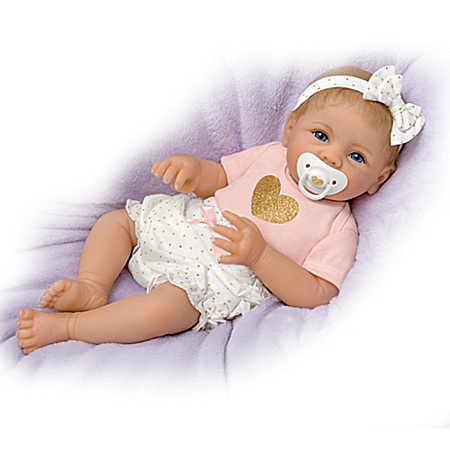 Cooing Baby Girl Doll With Heartbeat By Linda Murray