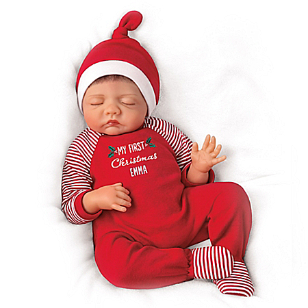 Bonnie Chyle Baby Of Mine Christmas Personalized Doll