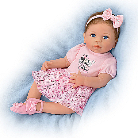 Linda Murray Baby Doll With Minnie Mouse Inspired Outfit