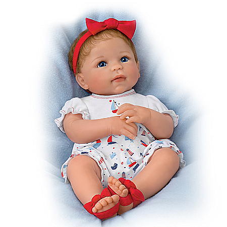 Little Saylor Lifelike Baby Doll With Magnetic Pacifier