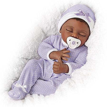 Linda Murray Amara Poseable Baby Doll With Custom Sleeper