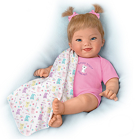 Ping Lau Down Syndrome Awareness Lifelike Poseable Baby Doll