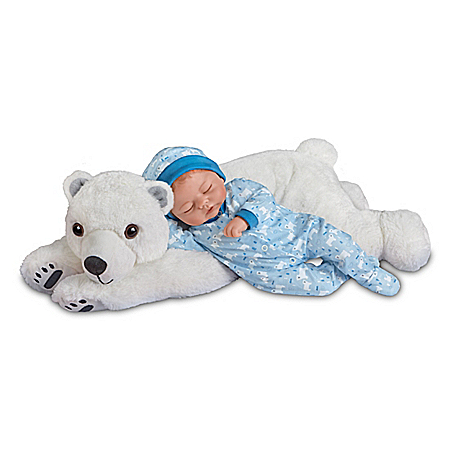 Violet Parker Brayden Boy Baby Doll With Plush Polar Bear