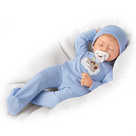 Maya Garza Baby Boy Doll In A Custom Outfit With Pacifier