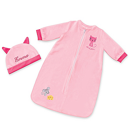Sleep Sack And Personalized Cap For 17 – 19 Baby Dolls
