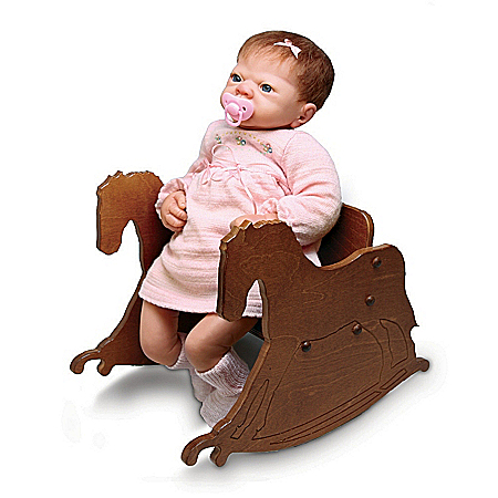 Wooden Rocking Chair Doll Accessory