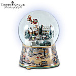 Thomas Kinkade Village Christmas Animated Musical Snow Globe