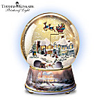 Thomas Kinkade Home For Christmas Musical Snowglobe