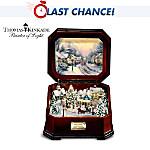 Thomas Kinkade Holiday Memories Illuminated Music Box