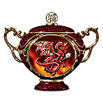 Good Fortune Chinese Red Dragon Collectible Music Box: Dragon Home Decor