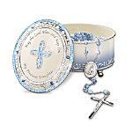 Blessed Daughter Musical Rosary Box With Rosary: Christian Gift For Daughters