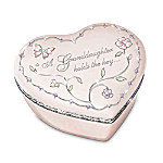 Key To My Heart Collectible Porcelain Music Box For Granddaughters