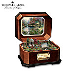 Thomas Kinkade Garden Of Prayer Collectible Wooden Music Box