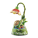 Home Decor Collectibles Daisy Darling Musical Table Lamp With Stained-Glass Art: Unique Floral Art Home Decor Gift