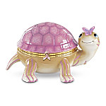 Pretty In Pink Turtle Music Box: Breast Cancer Awareness Gift