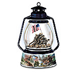 Iwo Jima USMC Tribute Lantern Music Box