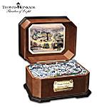 Thomas Kinkade Holiday Village Music Box