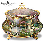 Thomas Kinkade Garden of Prayer Faith Music Box