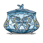 Louis Comfort Tiffany-Style Beauty Takes Wing Collectible Butterfly Music Box