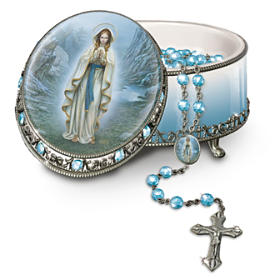Our Lady Of Lourdes Rosary Box