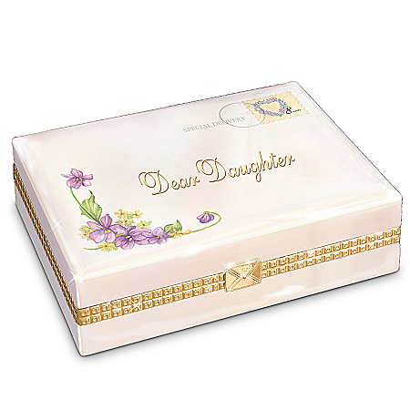 Gifts for Daughters Dear Daughter Collectible Porcelain Music Box Gift For Daughter