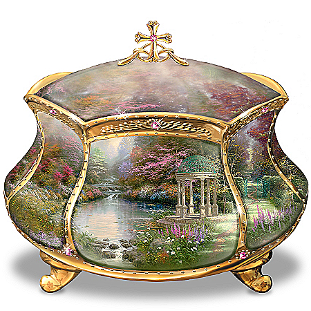 Thomas Kinkade Musical Keepsake Box - Garden of Prayer