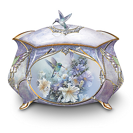 Image of Beautifully Detailed Hummingbird Music Box